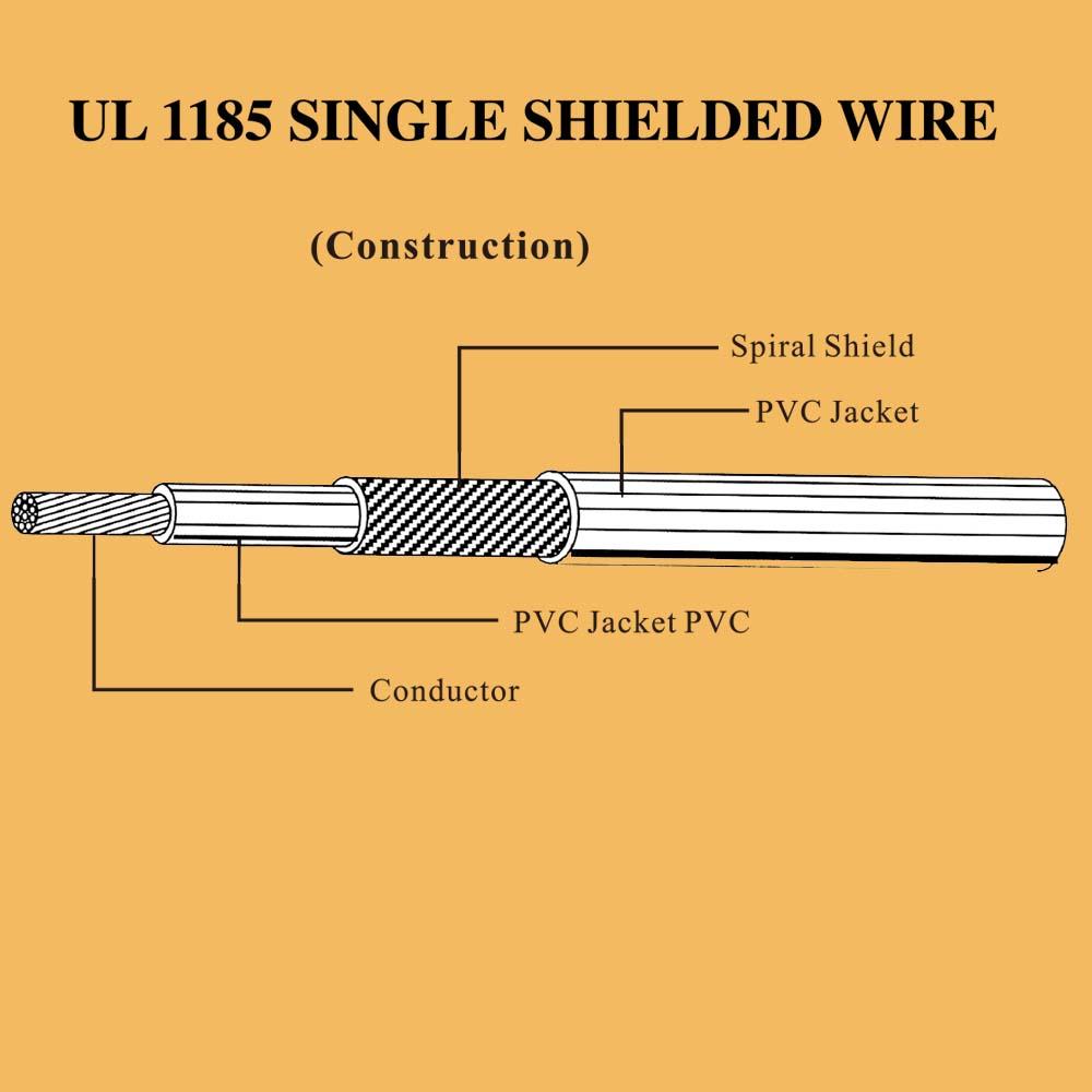 UL 1185 single shielded wire