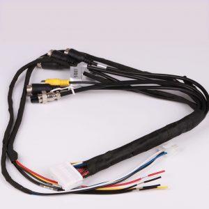 automotive wire 1507-DE2330-000 28pin+4 pin male aviation connector+6pin female aviation connector +RCA female