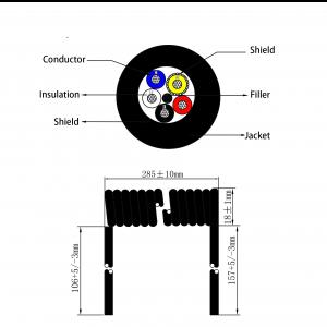 coil wire CO205X cutting diagram