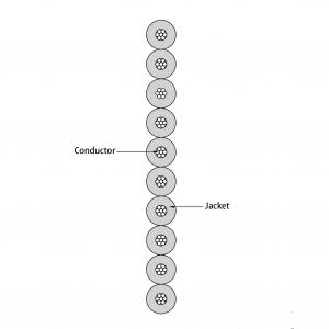 ECG cable EC210X cutting diagram