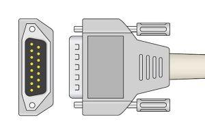 Nihon Kohden 1K resistance ECG plug
