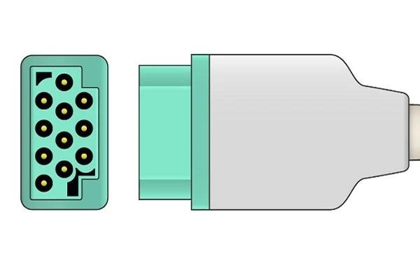 Schiller 11 pin one-piece ecg connector