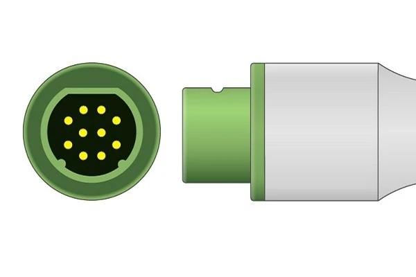 Siemens 10 pin ECG trunk cable-Plug