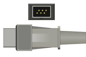 Konica Minoita 6 Pins SPo2 Sensor connector
