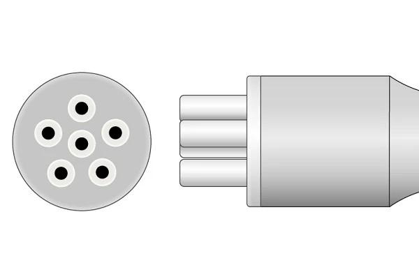 Colin 6 Pin ECG Connector