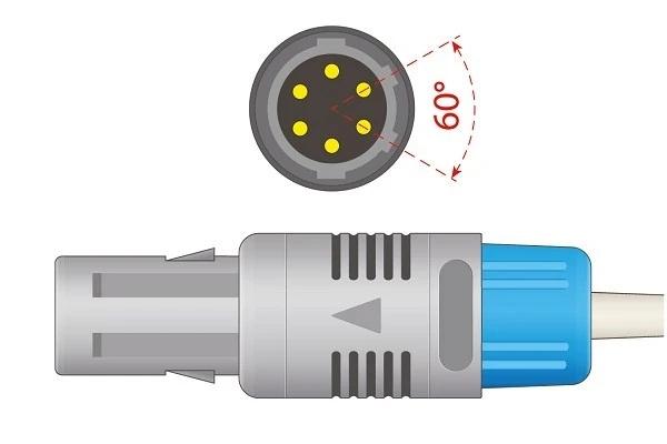 Mindray 6 Pins SPo2 Sensor 60 degree