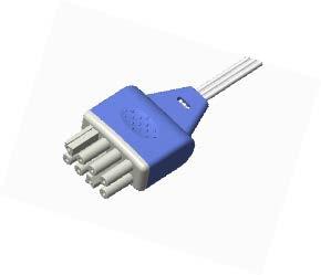 Nihon Kohden Dispossable ECG leadwire connector