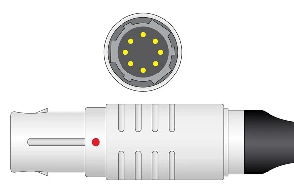 Siemens and Drager 8 Pins SPo2 Sensor
