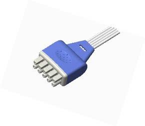 Marquette dispossable ECG leadwire connector
