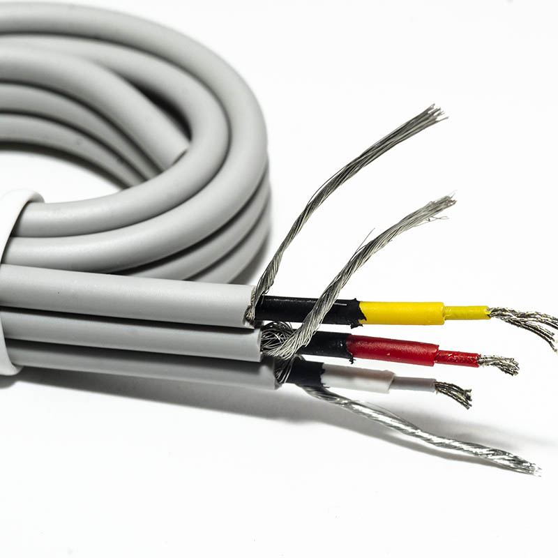 3 leads Tinsel cable-Flat Ribbon cable for Medical