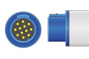Bruker- 12 Pins SPo2 Sensor connector