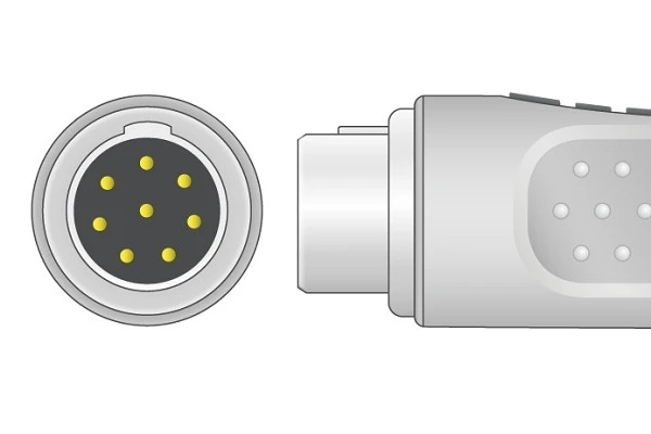 Philips 8 pin ECG trunk cable connector plug