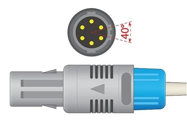 Biocare- 6 Pins SPo2 Sensor 40°