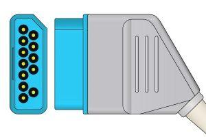 Nihon Kohden 12 pin ECG connector