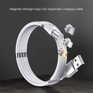 Magnetic coil Charging Cable