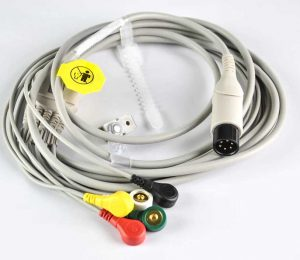 5-Lead-ECG-EKG-Cable-with-SNAP-IEC-Standard